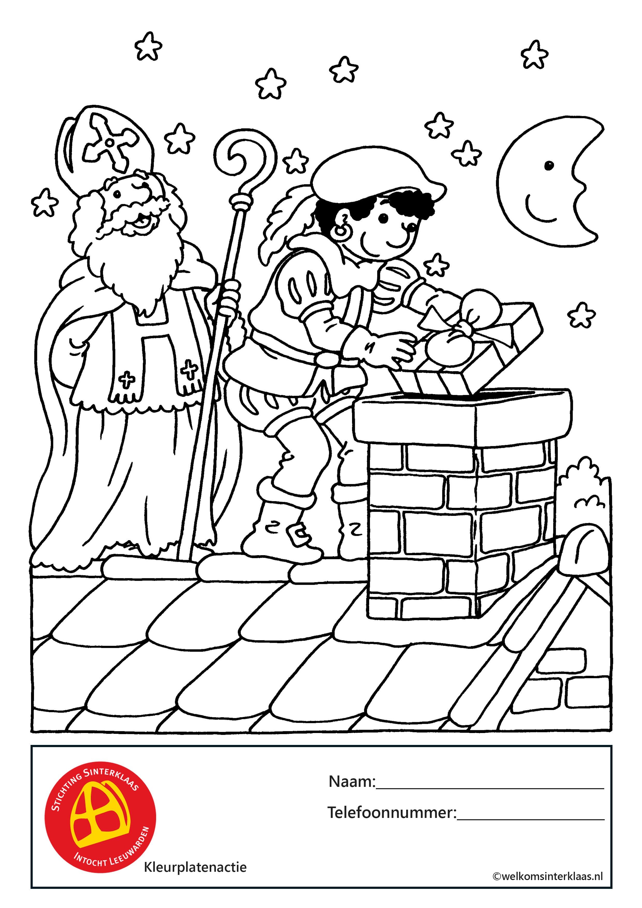 Sint en Piet brengen pakjes